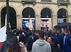 Chelsea-szurkolók Barcelona belvárosában - haon.hu