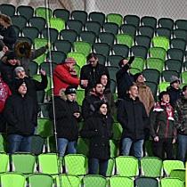 A Loki szurkolói a DVSC-Haladás mérkőzésen - haon.hu