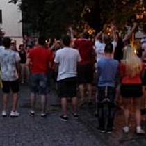 A régi tejpiacon is megünnepelték a portugálok elleni sikert - haon.hu
