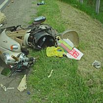Súlyos motoros baleset Ebesnél