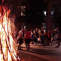 Szentiván éji tűz a Balthazár Dezső téren