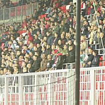 Debreceni ultrák a Puskás Akadémia elleni meccsen