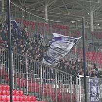 Az UTE ultrák a DVSC-UTE meccsen - haon.hu