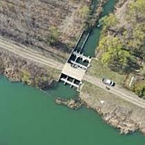 Légi felvétel a bakonszegi víztározóról