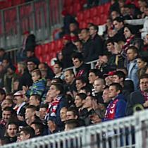 Szurkolás a DVSC Vasas labdarúgó mérkőzésen
