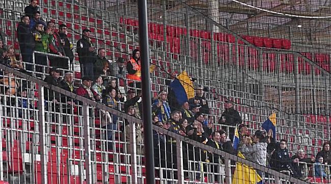 A Mezőkövesd szurkolói a DVSC-Mezőkövesd mérkőzésen - haon.hu