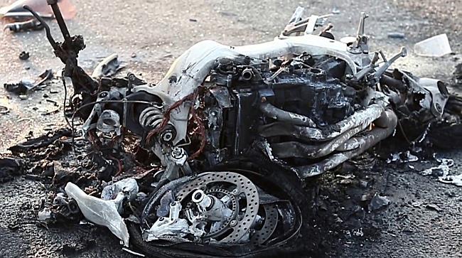 Súlyos motoros baleset a 33-as főúton