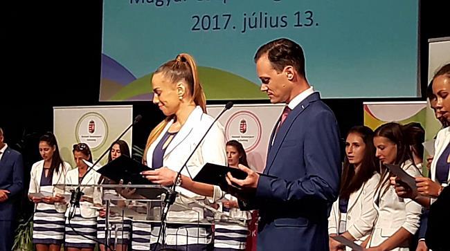 Világjátékok fogadalomtétel, Hegyi Dóra, László Csaba - haon.hu