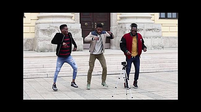 A Teamgravity tánccsapat tagjai forgattak klipet a Nagytemplomnál - haon.hu