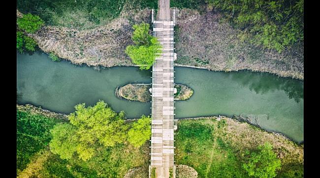 A Szent Ágota-híd és az Ágota puszta madártávlatból - haon.hu