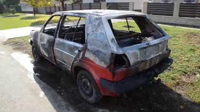 Kiégett egy autó Hajdúszoboszlón