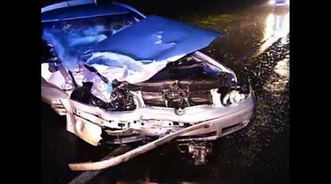 Frontális baleset a szováti úton